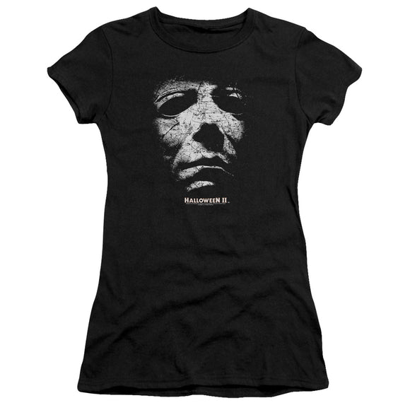 Halloween Juniors T-Shirt Michael Myers Mask Black Premium Tee