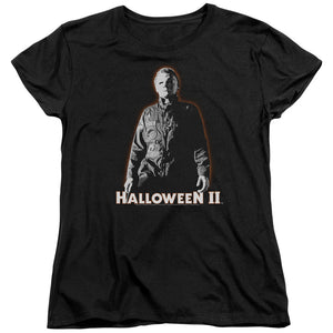 Halloween Womens T-Shirt Michael Myers Glow Black Tee