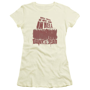 Dawn of the Dead Juniors T-Shirt No More Room in Hell Cream Tee