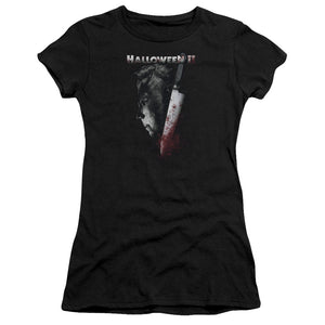 Halloween Juniors T-Shirt Michael Myers Side Profile Black Tee