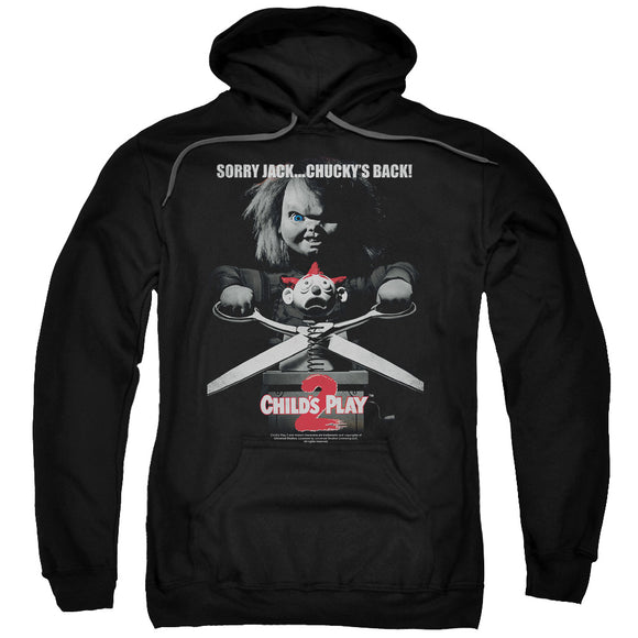 Childs Play Hoodie Sorry Jack Chuckys Back Black Hoody