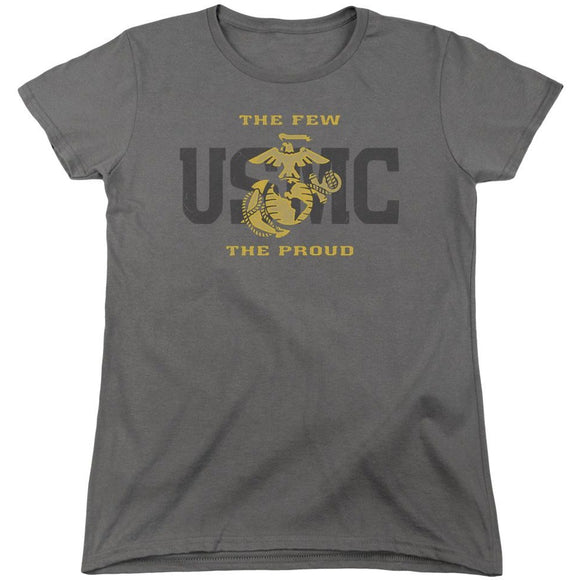 US Marine Corps The Few The Proud Charcoal Women's Shirt