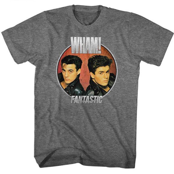 Wham T-Shirt Fantastic Album Circle Graphite Heather Tee