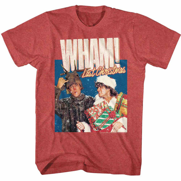 Wham T-Shirt Last Christmas Red Heather Tee