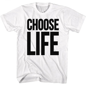 Wham Tall T-Shirt Choose Life White Tee