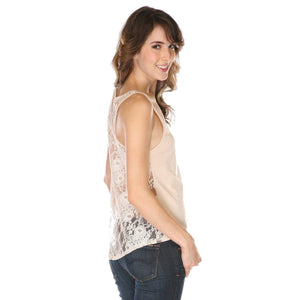 Womens Manipura Chakra Lace Back Tank Top - Yoga Clothing for You - 2