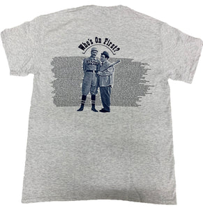 Abbott and Costello T-Shirt Who's on First Ash Tee