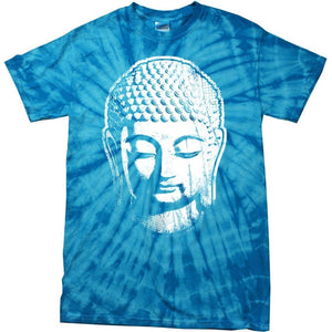 Yoga Clothing for You Big Buddha Head Spider Tie Dye T-shirt - Yoga Clothing for You