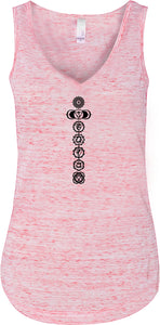 Black 7 Chakras Lightweight Flowy Yoga Tank Top