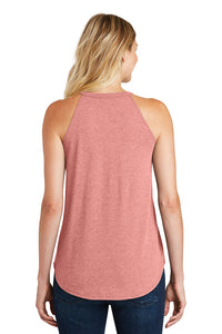 Womens Yoga Tank Top Shadow Buddha Triblend Rocker Tanktop