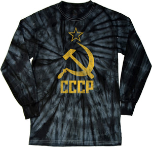 Buy Cool Shirts Soviet Union T-shirt Distressed CCCP Tie Dye Long Sleeve