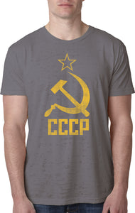 Soviet Union T-shirt Distressed CCCP Burnout Tee