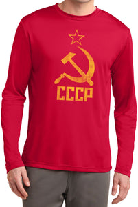 Buy Cool Shirts Soviet Union T-shirt Distressed CCCP Dry Wicking Long Sleeve