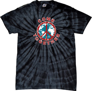 Buy Cool Shirts Peace T-shirt Come Together Spider Tie Dye Tee