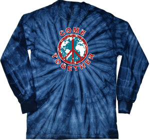 Peace T-shirt Come Together Long Sleeve Tie Dye
