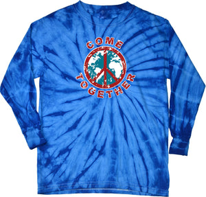Buy Cool Shirts Peace T-shirt Come Together Long Sleeve Tie Dye