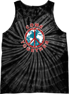 Peace Tank Top Come Together Tie Dye Tanktop