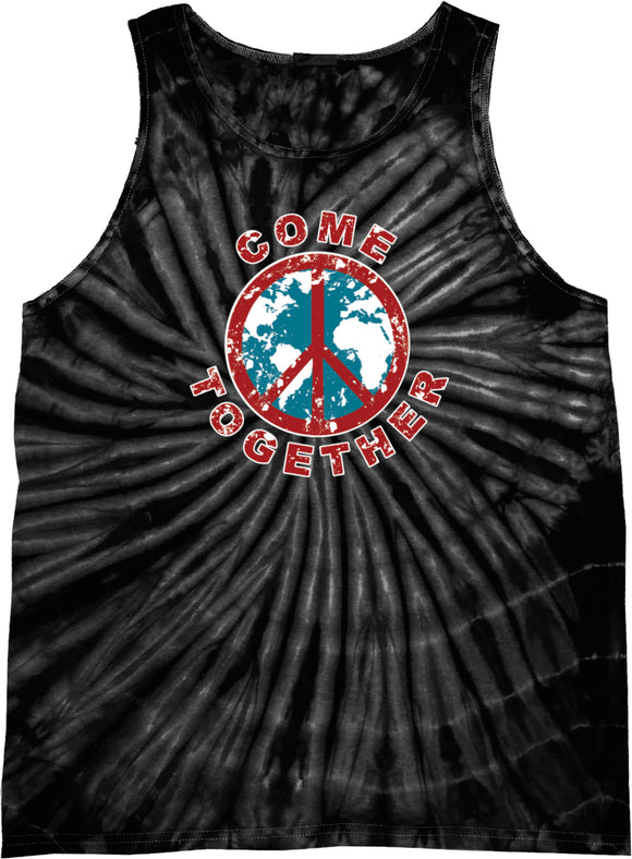Buy Cool Shirts Peace Tank Top Come Together Tie Dye Tanktop