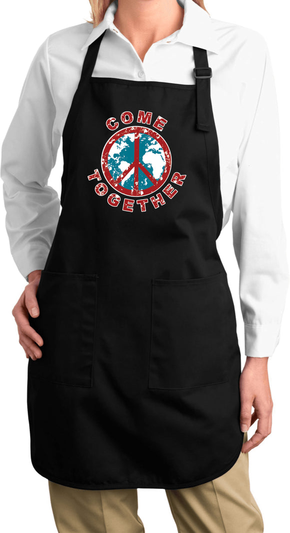Buy Cool Shirts Ladies Peace Apron Come Together