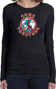 Ladies Peace T-shirt Come Together Long Sleeve