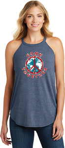 Ladies Peace Tank Top Come Together Tri Rocker Tanktop