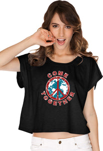 Ladies Peace T-shirt Come Together Boxy Tee