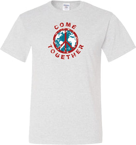 Buy Cool Shirts Peace T-shirt Come Together Tall Tee