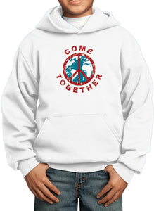 Buy Cool Shirts Kids Peace Hoodie Come Together