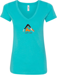 Yoga Clothing For You Copy Cat Ideal V-neck Yoga Tee Shirt
