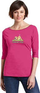 Downward Human 100% Cotton 3/4 Sleeve Elbow Yoga Tee