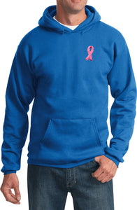 Breast Cancer Hoodie Embroidered Pink Ribbon Pocket Print