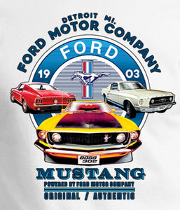 Ford Mustang Vintage Collage Long Sleeve Shirt