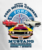 Ford Mustang Vintage Collage Moisture Wicking Shirt