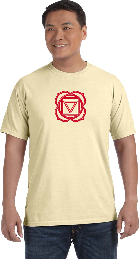 Yoga Clothing For You Muladhara Chakra Pigment Dye Yoga Tee Shirt