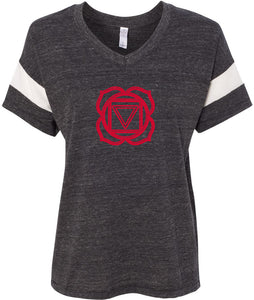 Muladhara Chakra Eco-Friendly V-neck Yoga Tee Shirt