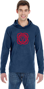 Yoga Clothing For You Muladhara Chakra Pigment Hoodie Yoga Tee Shirt