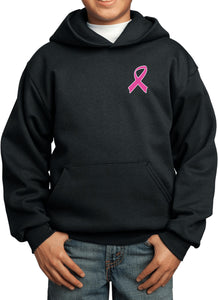 Kids Breast Cancer Hoodie Pink Ribbon Pocket Print