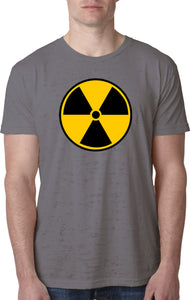 Radiation T-shirt Radioactive Fallout Symbol Burnout Tee