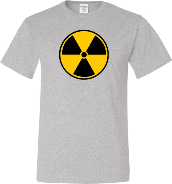 Radiation T-shirt Radioactive Fallout Symbol Tall Tee