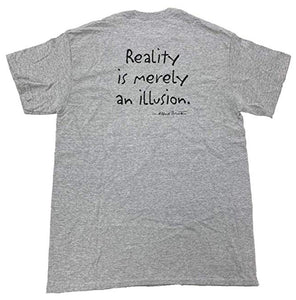 Albert Einstein T-Shirt Reality is Merely an Illusion Grey Tee