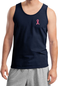Breast Cancer Tank Top Sequins Ribbon Pocket Print