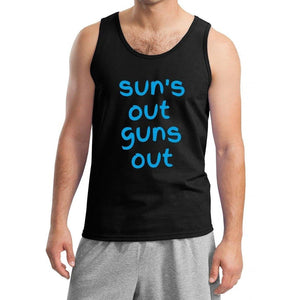 Yoga Clothing for You Mens Suns Out Guns Out Tank Top - Black - Yoga Clothing for You