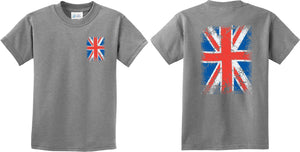 Buy Cool Shirts Kids Union Jack T-shirt Front and Back