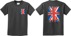 Kids Union Jack T-shirt Front and Back