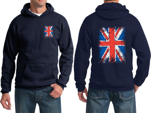 Union Jack Hoodie Front and Back