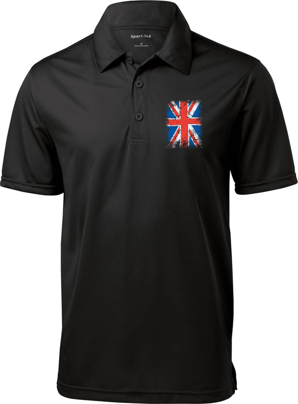 Union Jack Textured Polo Pocket Print