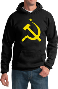 Soviet Union Hoodie Yellow Hammer and Sickle