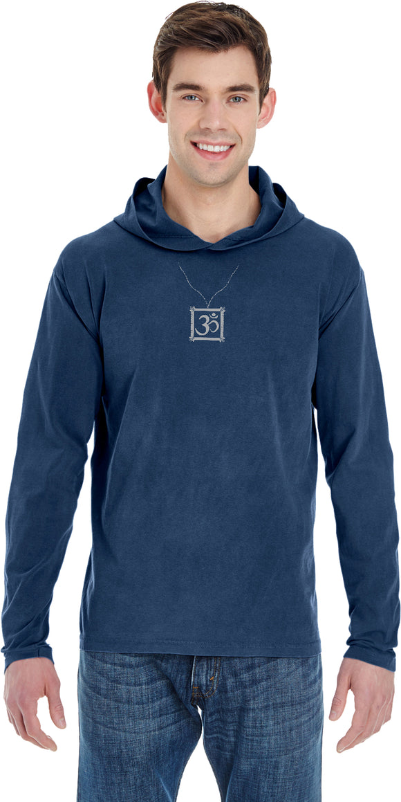AUM Charm Necklace Pigment Hoodie Yoga Tee Shirt