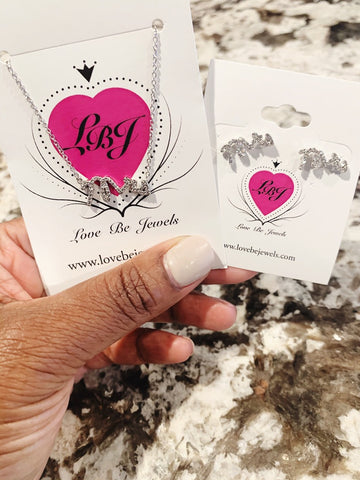 Mrs Silver Earrings - Love Be Jewels