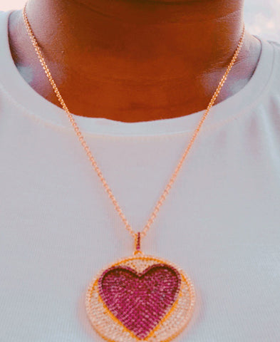 Berry Heart Necklace - Love Be Jewels